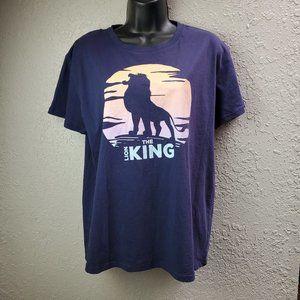 The Lion King Blue Graphic T-Shirt Sz. L